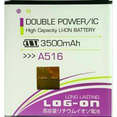 LOG-ON Battery For Lenovo A516 3500mAh - Double Power & IC - Garansi 6 Bulan