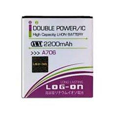 LOG-ON Battery For Lenovo A706 2200mAh - Double Power & IC Battery - Garansi 6 Bulan