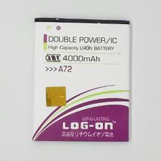 LOG-ON Battery For MITO A72 4000mAh Double Power & IC - Garansi 6 Bulan