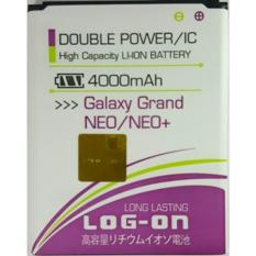 LOG-ON Battery For Samsung Galaxy Grand NEO/NEO+ 4000mAh - Double Power & IC Battery - Garansi 6 Bulan