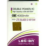 Log On Battery For Zte V815W 4000Mah Double Power Ic Battery Garansi 6 Bulan Log Battery Diskon 50