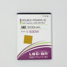LOG-ON Battery For ZTE V830W 3500mAh - Double Power & IC Battery - Garansi 6 Bulan