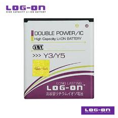 LOG-ON Battery Untuk Huawei Y3 / Y5 / Y5C / Y3 BATIK / Andromax W -  DoublePower & IC - Garansi 6 Bulan