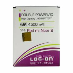 Cara Beli Log On Double Power Baterai For Xiaomi Redmi Note 2 4500 Mah