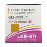 Jual T Log On Double Power Battery For Asus Zenfone 4S 4000 Mah Original