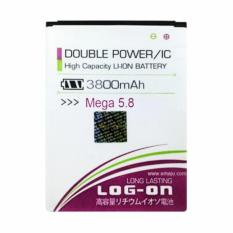 Jual Log On Double Power Battery For Samsung Galaxy Mega 5 8 Or I9152 3800 Mah Log On Ori
