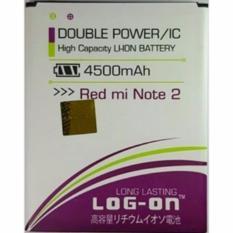 Toko Log On For Xiaomi Redmi Note 2 4500 Mah Double Power Baterai Online