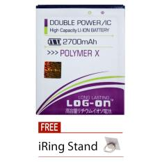 Log On Himax Polymer X - Double Power Battery - 2700 mAh + Free iRing Stand