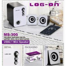 Beli Log On Mini Multimedia Speaker 2 1 Channel Portabel Spiker Ms 300 Murah Dki Jakarta