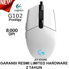 Logitech Gaming Mouse G102 Prodigy 8000DPI - Putih.