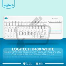 Logitech K400 Plus Keyboard  Wireless Touch - Putih