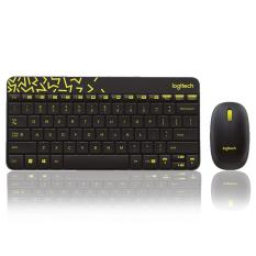 Logitech Keyboard and Mouse Wireless MK240 Original ( NANO Receiver ) - Hitam/Kuning
