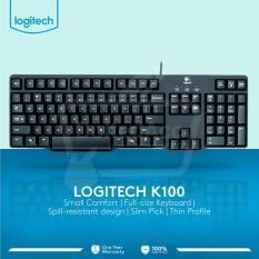 Logitech Keyboard K100 PS2 - Hitam