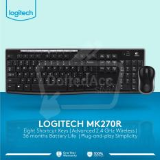 Logitech Keyboard Wireless MK 270r - Hitam