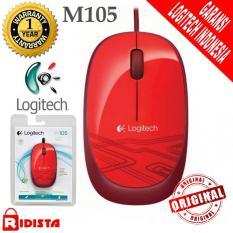 Logitech M105 Mouse Kabel Original ( L068 ) Warna Merah
