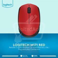 Beli Logitech M171 Wireless Mouse Merah Logitech Online
