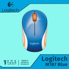 Logitech M187 Wireless Mini Mouse - Biru