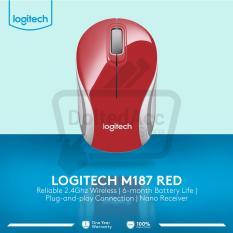 Toko Logitech M187 Wireless Mini Mouse Merah Murah Jawa Barat