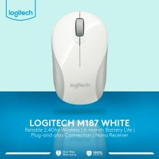 Logitech M187 Wireless Mini Mouse - Putih