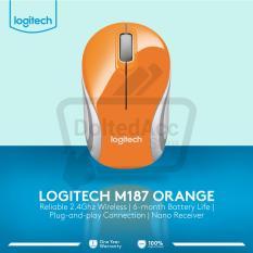 Jual Logitech M187 Wireless Mouse Orange Original