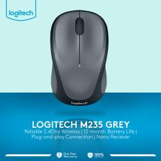 Logitech M235 Wireless Mouse - Abu-Abu