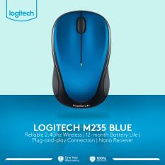 Logitech M235 Wireless Mouse - Biru