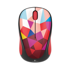 Logitech M238 Wireless Mouse  - Red Pattern
