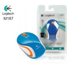 Jual Logitech Original Mouse Wireless M187 Biru Branded Original
