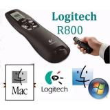 Logitech R800 Premium Wireless Presenter 2 4 Ghz Pointer Red Laser Merah Receiver Remote Control Nirkabel Jarak Jauh 30 Meter Presentasi Power Point Presentation Ppt With Lcd Display Screen Vibrate For Windows Mac Oem Logitech Diskon 50