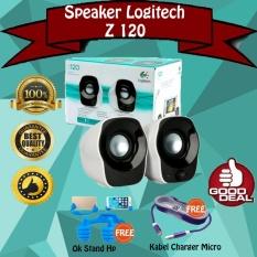 Logitech Speaker Z120 2.0 - Stereo Speakers - USB Power - Gratis Kabel Charger Tali Warna + Ok Stand Hp