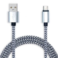 Panjang 3 M Micro USB Kabel Data Charger Lead untuk HTC M8 M9 SamsungSony LG ZTE ZOPO (Silver) SHEN ZHEN DONG DA YI QI 096-Intl