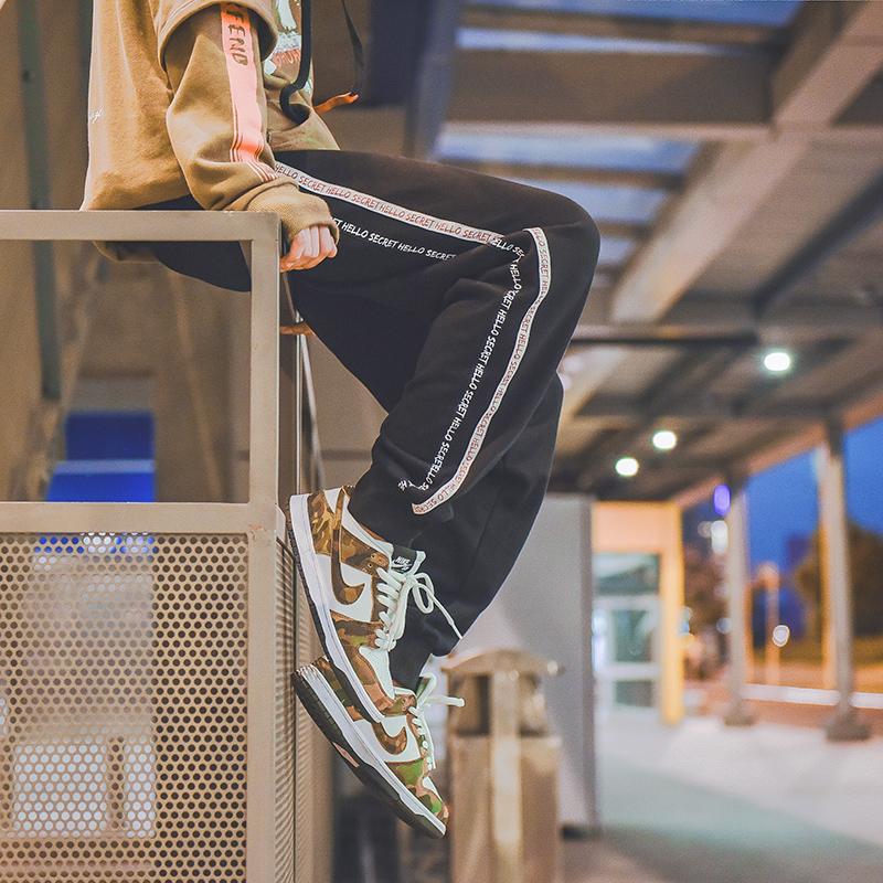 Spesifikasi Longgar Korea Fashion Style Tambah Beludru Laki Laki Harem Celana Laki Laki Celana Hitam Celana Pria Celana Panjang Pria Celana Chino Celana Cargo Yang Bagus Dan Murah