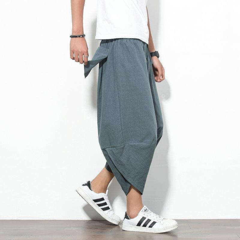 Promo Longgar Musim Panas Bagian Tipis Celana Celana Abu Abu