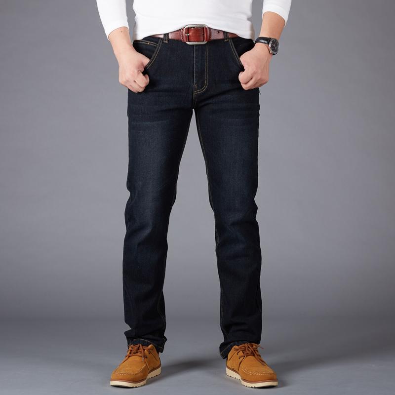 Beli Longgar Musim Semi Baru Pria Ukuran Celana Jeans Besar Hitam Secara Angsuran
