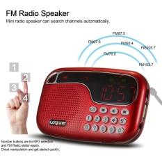Diskon Longruner L 21 Mini Fm Radio Speaker Digital Stereo Speaker Kualitas Suara Kesetiaan Yang Tinggi Led Display Screen Usb Disk Tf Card 3 5Mm Aux In Intl