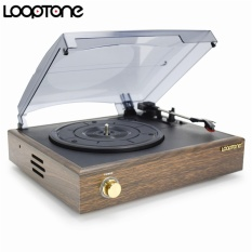 Jual Looptone Nostalgic Belt Drive Turntable Player For 33 45 78Rpm Vinyl Lp Record W 2 3W Built In Speakers Support Pc Link Rca Line Out Ac220 240V Intl Branded Original