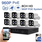 Jual Loosafe 960P Poe Security Camera System 8Ch Nvr Built In 1Tb Hard Disk With 8Pcs 1 0Mega Pixels 1280 960P High Resolution Cctv Ip Surveillance Cameras Intl Di Bawah Harga