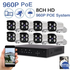 Harga Loosafe 960P Poe Security Camera System 8Ch Nvr Built In 1Tb Hard Disk With 8Pcs 1 0Mega Pixels 1280 960P High Resolution Cctv Ip Surveillance Cameras Intl Seken
