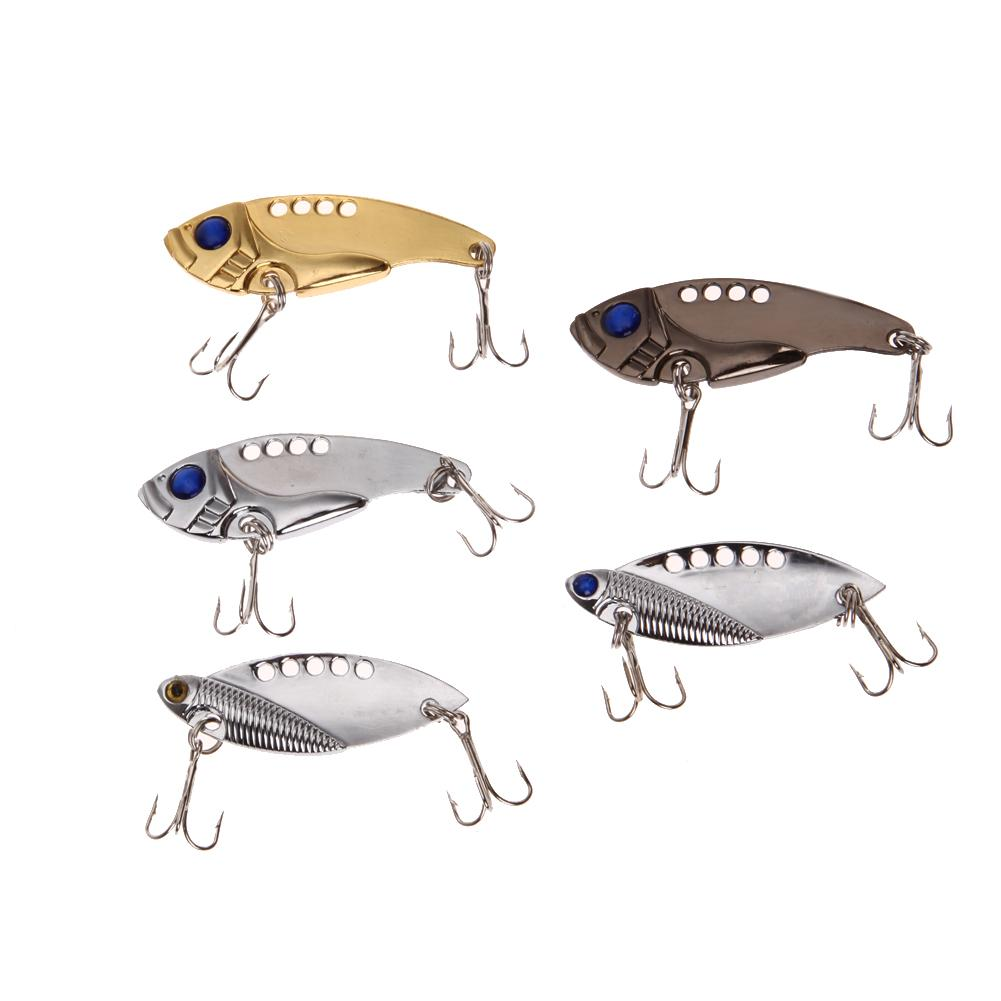 Diskon Besarlot 5 Pcs Metal Fishing Lures Bass Crankbait Sendok Crank Bait Tackle 3 Warna Intl