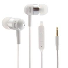 LOUIS Warna Ubah LED Wired Kontrol In-Ear HIFI Earphone Stereo Bass Ear Cup dengan 3.5mm Earphone Port, untuk IPhone, IPad, IPod, Samsung, HTC, Sony, Huawei, Xiaomi dan Perangkat Audio Lainnya (Putih)-Intl