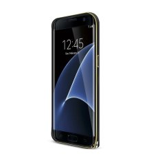 Love Mei Logam Melengkung Bumper Case Aluminium Alloy Shockproof Frame Cover Ultra Tipis Pelindung Cover Case untuk Samsung Galaxy S7 Edge (Hitam) (netral)-Intl