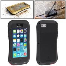 CINTA MEI Logam Ultra Tipis Tahan Hujan + Dropproof + Tahan Terhadap Debu Pelindung Case untuk iPhone 5 & 5 S (Hitam) -Internasional