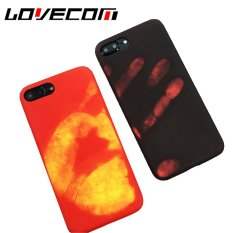 LOVECOM Funny Phone Case For iPhone Temperature Variation Soft PU Leather Phone Back Cover Cases New Capa Shells - intl
