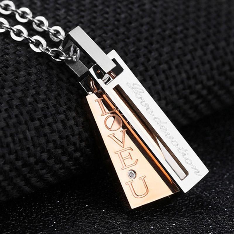 Jual Lover Beberapa Titanium Steel Pendant Necklace For Hadiah Valentine S Day Oem Branded