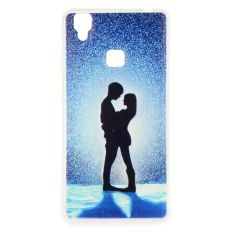 Lovers Clear Edge Soft Silicon Painting Back Cover Case For OPPO Find 9 (Multicolor) - intl.