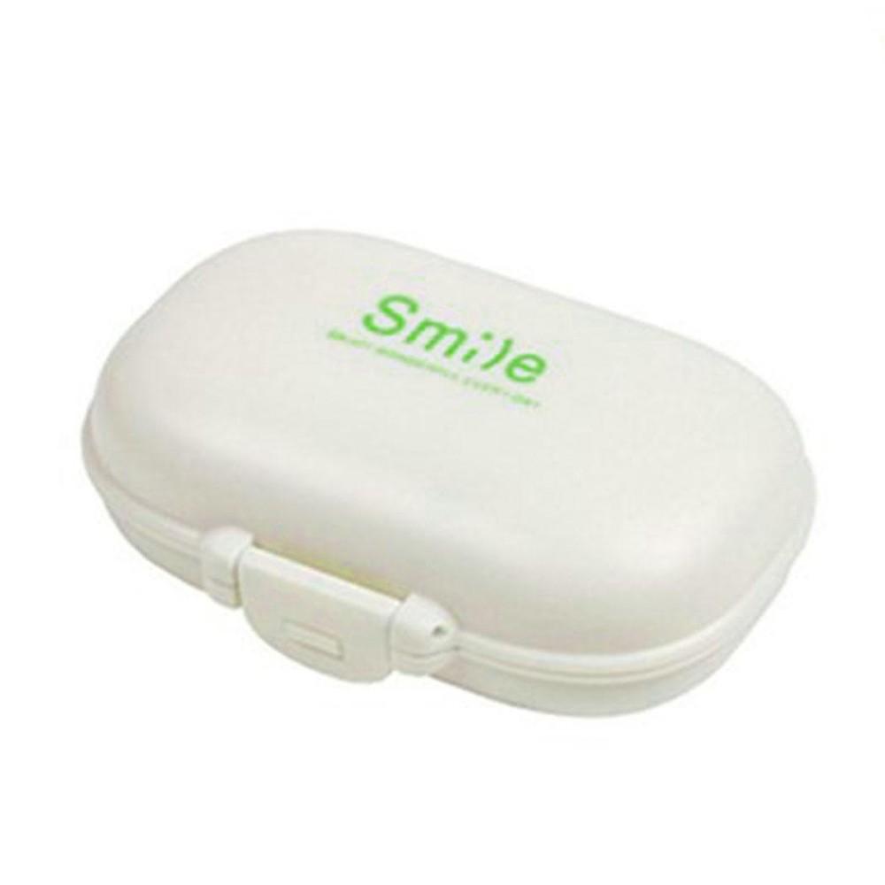 Keuntungan RENDAH 4 Bagian Pil Perjalanan Kotak Tablet Penahan Obat Dispenser Organizer Penyimpanan-Internasional