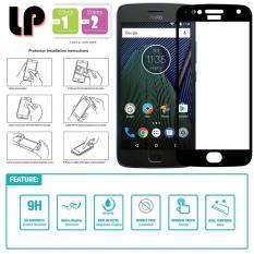 LP Full Tempered Glass Screen Motorola Moto G5S Plus - Hitam