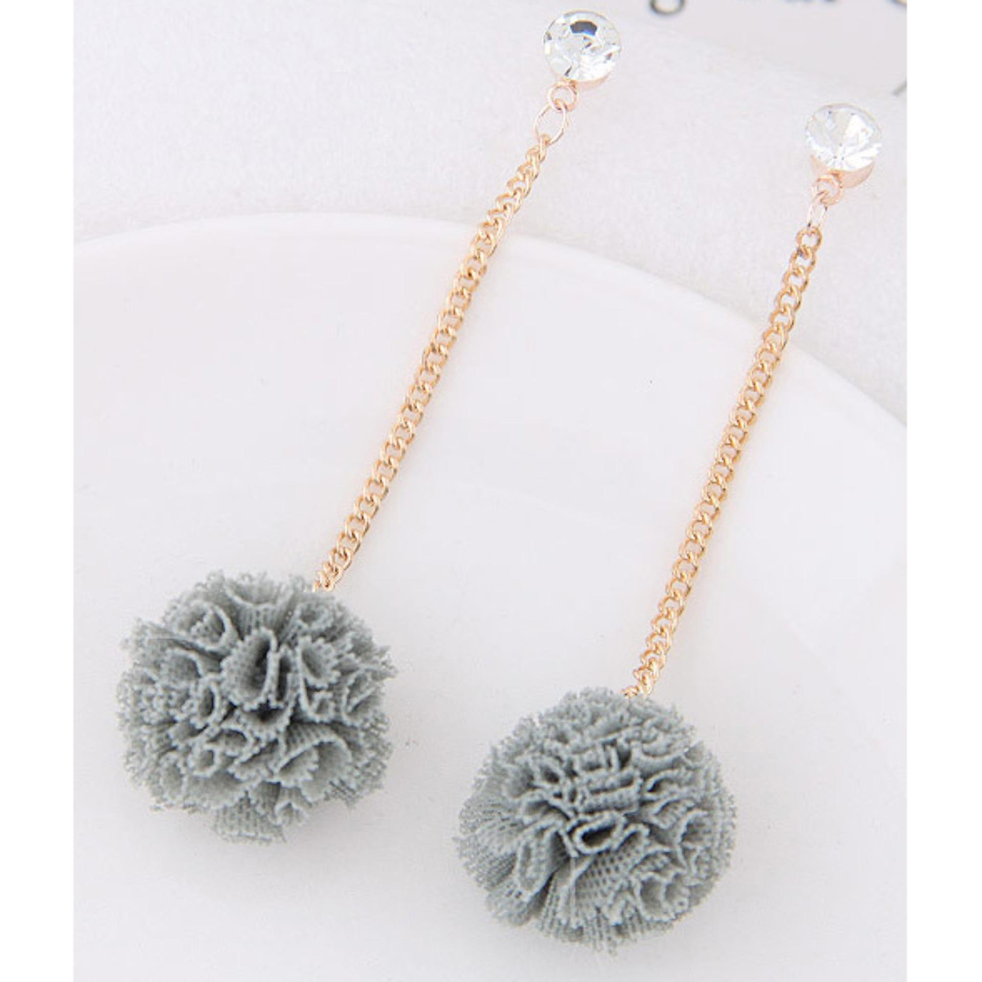LRC Anting Tusuk Sweet Flower Pendant Decorated Long Earrings