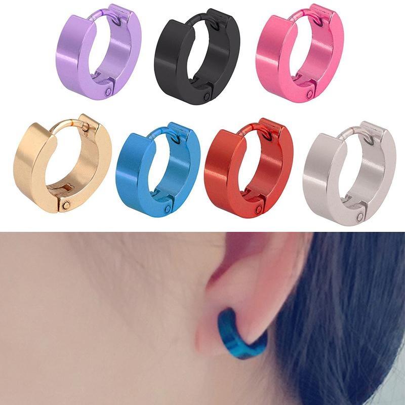 Luar Biasa Hebat Chic Sederhana Stainless Steel Hoop Earrings Perhiasan untuk Wanita/Pria-Intl