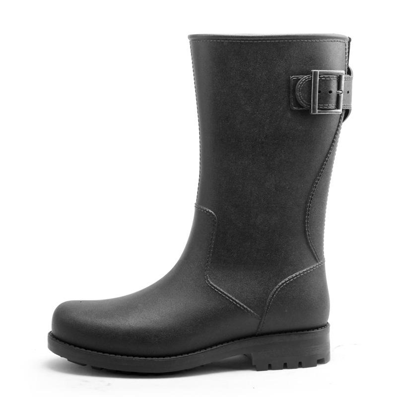 Sepatu Sepatu Udara Musim Semi atau Musim Panas Baru Sepatu Bot Hujan Luar Rumah Dewasa (Model Pria + Geng dasar Hitam)